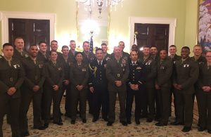 Reception for Marine Corps Officers and USNA Midshipmen at the Embassy of Japan