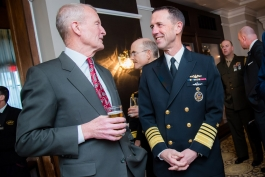 The second annual JUMP (Japanese US Military Program) dinner and panel discussion featuring speakers Admiral Dennis Blair and Admiral John Richardson at the Army and Navy Club in Washington, DC on March 16, 2017.
